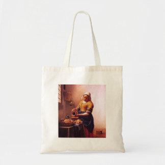 Milk maid by Johannes Vermeer Canvas Bags