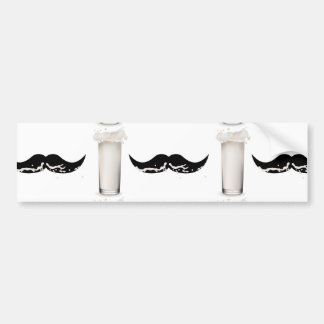 Milk Mustache Car Bumper Sticker