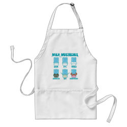Apron with Milk Mustaches design