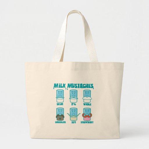 Milk Mustaches Bags