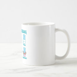 Classic White Mug with Milk Mustaches design
