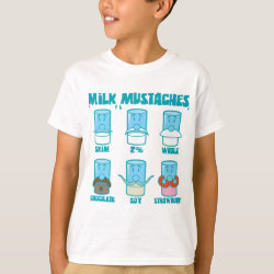 Milk Mustaches Kids' Hanes TAGLESS® T-Shirt