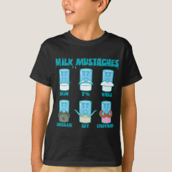 Kids' Hanes TAGLESS® T-Shirt with Milk Mustaches design