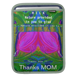 MILK - nature provided in you to give iPad Sleeves