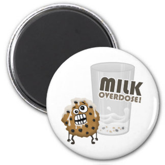 Milk Overdose for Cookie 2 Inch Round Magnet