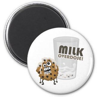 Milk Overdose for Cookie 2 Inch Round Magnet