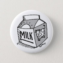 milk pinback button