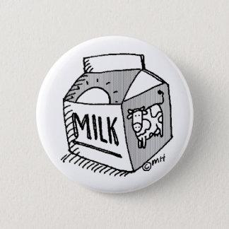 milk pinback button