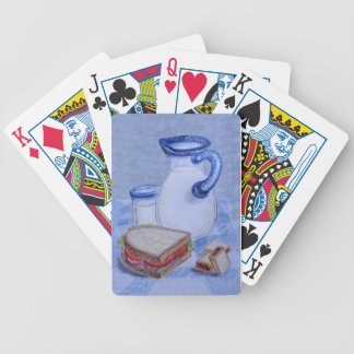 Milk Pitcher and Glass Bicycle Playing Cards