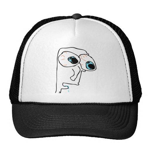 Milk rage face trucker hat