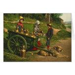 Milk Sellers Brussels Belgium 1890 Greeting Card