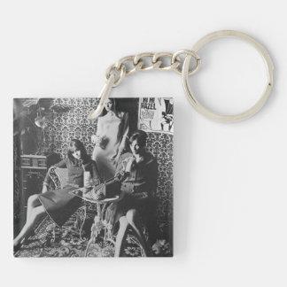 Milk shake Girls key-ring Double-Sided Square Acrylic Keychain