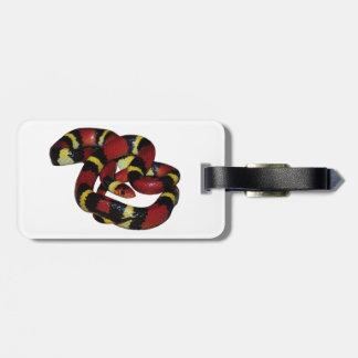 Milk snake bag tag