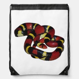 Milk snake drawstring backpack