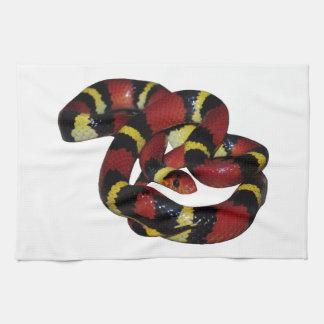 Milk snake kitchen towel