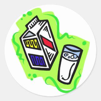 Milk Round Sticker