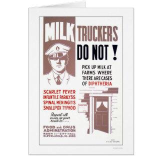 Milk Truckers Be Careful 1940 WPA Greeting Card