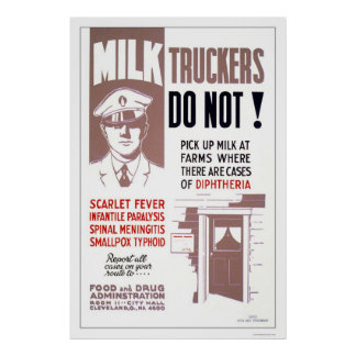 Milk Truckers Be Careful 1940 WPA Print