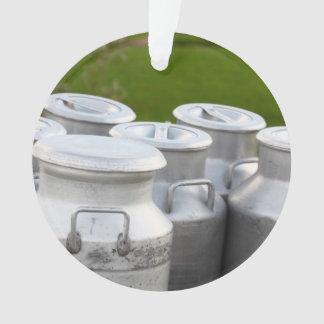 Milk urns ornament