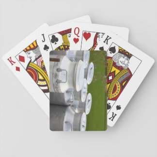 Milk urns playing cards