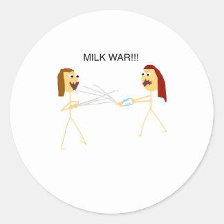 Milk Wars Classic Round Sticker