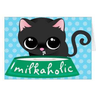 Milkaholic Black Kitty Card