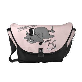 Milkaholic Cat Baron Illustration Courier Bag