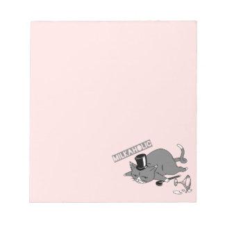 Milkaholic Cat Baron Illustration Notepad