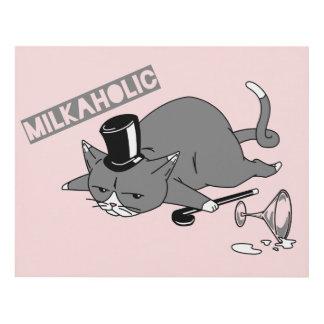 Milkaholic Cat Baron Illustration Panel Wall Art