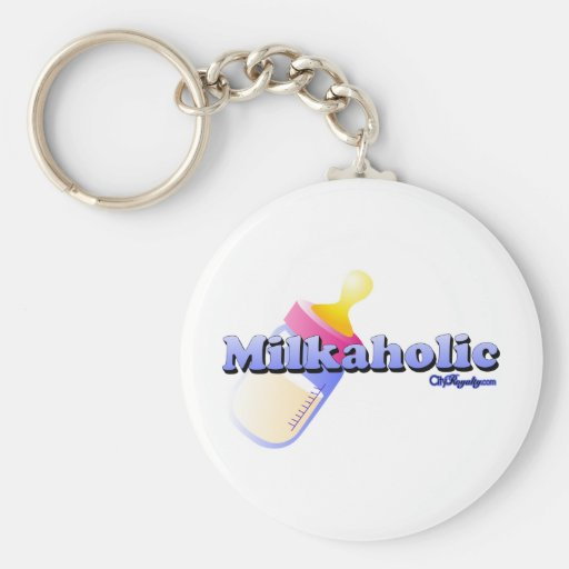 Milkaholic Llavero Personalizado