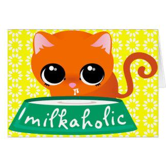 Milkaholic Orange Kitty Card