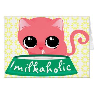 Milkaholic Pink Kitty Card