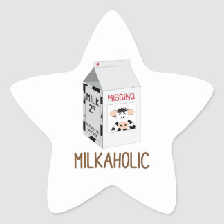 Milkaholic Star Sticker