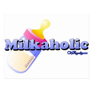 Milkaholic Tarjeta Postal