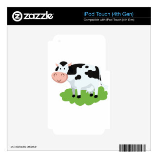milking cow in the garden decal for iPod touch 4G