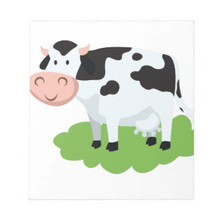 milking cow in the garden notepad
