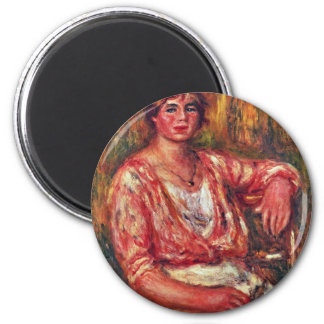 Milkmaid By Pierre-Auguste Renoir (Best Quality) 2 Inch Round Magnet