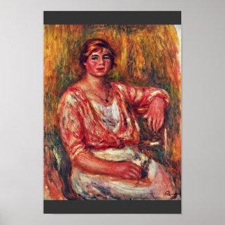 Milkmaid By Pierre-Auguste Renoir (Best Quality) Poster