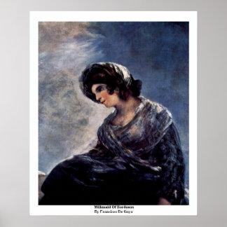 Milkmaid Of Bordeaux By Francisco De Goya Poster
