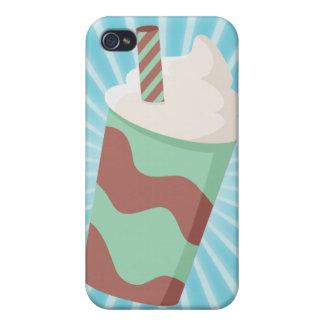 Milkshake de Choc de la menta iPhone 4 Cárcasa
