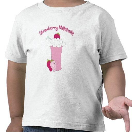 Milkshake de la fresa camisetas