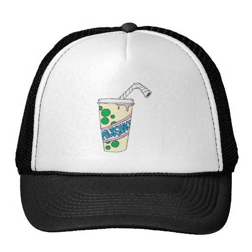 milkshake de la fresa gorro de camionero