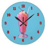 Milkshake de la fresa relojes