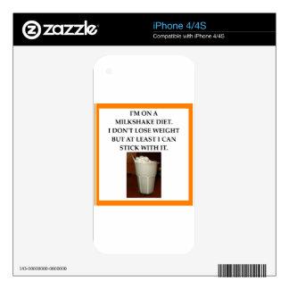 MILKSHAKE DECAL FOR iPhone 4