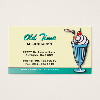 Milkshake/ Ice Cream Shop Business Card