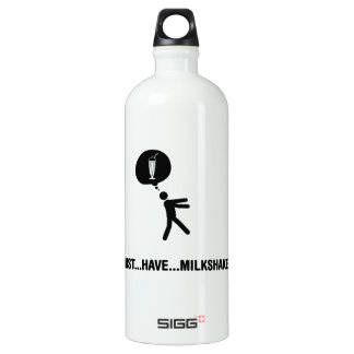 Milkshake Lover Aluminum Water Bottle