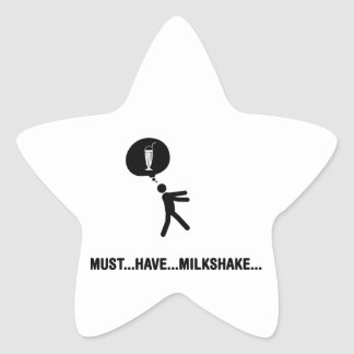 Milkshake Lover Star Sticker