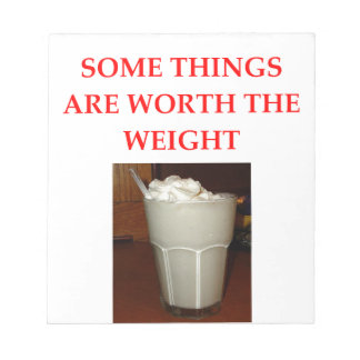 milkshake notepad