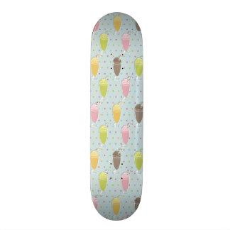 Milkshake Pattern Skate Board Deck
