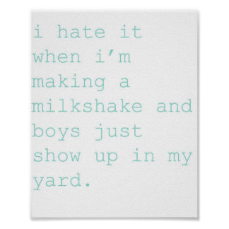 milkshake posters